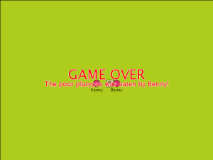 Corrected Game Over